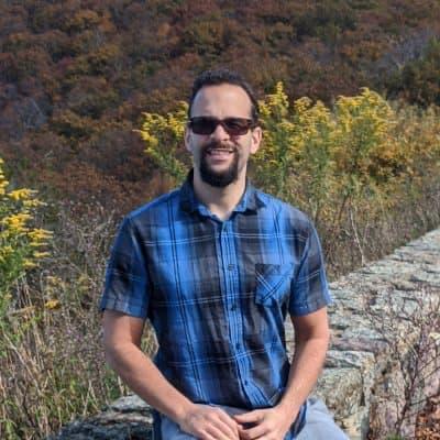 Matt Birch in mountains